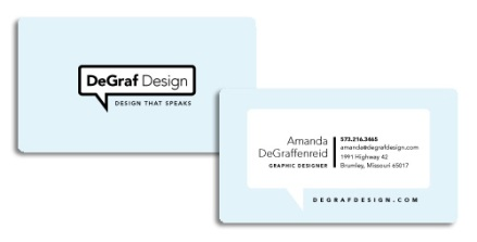 New DeGraf Design Business Cards